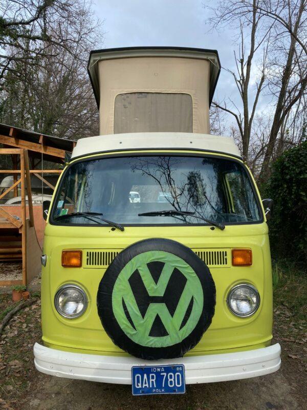 van vintage camping car