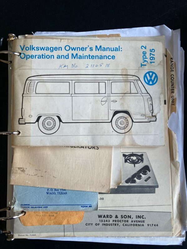 document vw Combi Westfalia Campmobile 1975
