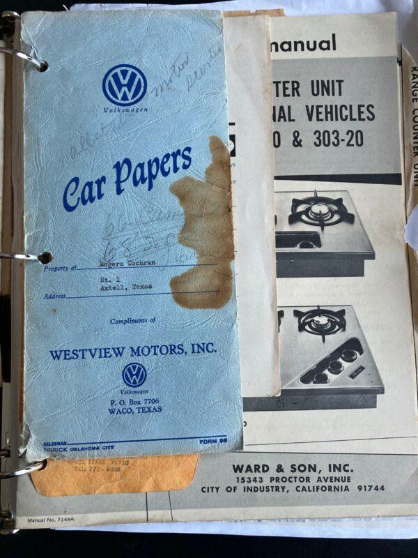 documents Combi Westfalia Campmobile 1975