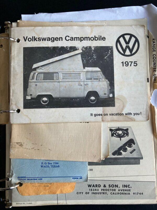 notice d'utilisation Combi Westfalia Campmobile 1975