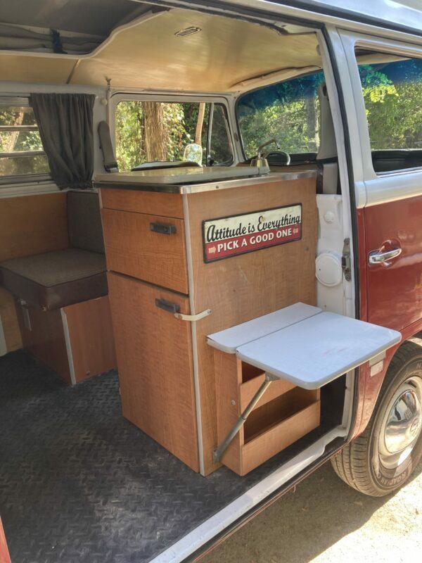 Meuble cuisine camping car 1969
